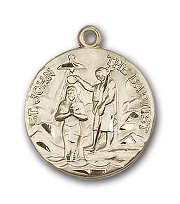 14K Gold St. John the Baptist Pendant - Engravable