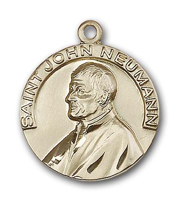 14K Gold St. John Neumann Pendant - Engravable