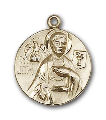 14K Gold St. John the Evangelist Pendant - Engravable
