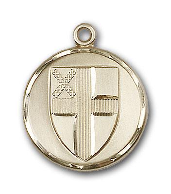 14K Gold Episcopal Pendant - Engravable