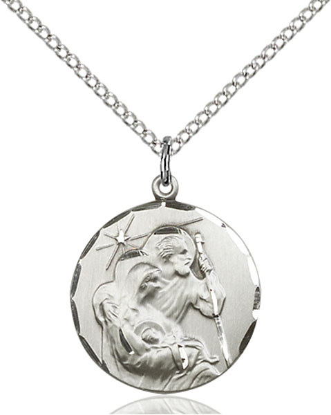 Sterling Silver Holy Family Pendant
