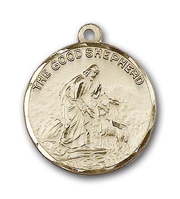 14K Gold Good Shepherd Pendant - Engravable