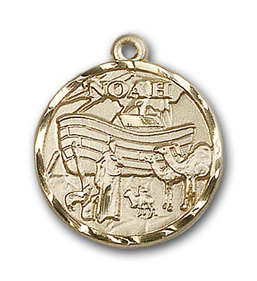 14K Gold Noah Pendant - Engravable