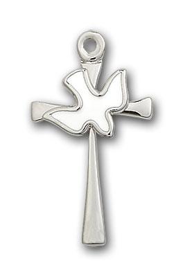 Sterling Silver Cross / Holy Spirit Pendant