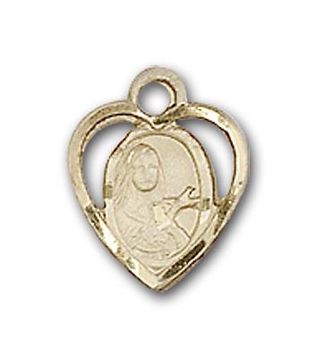 14K Gold St. Theresa Pendant