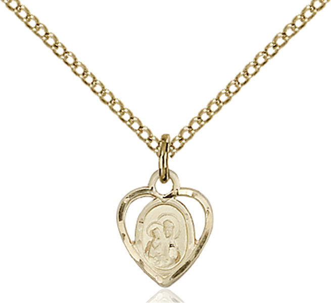 Gold-Filled Our Lady of Perpetual Health Pendant