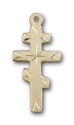 Gold-Filled Greek Orthadox Cross Pendant