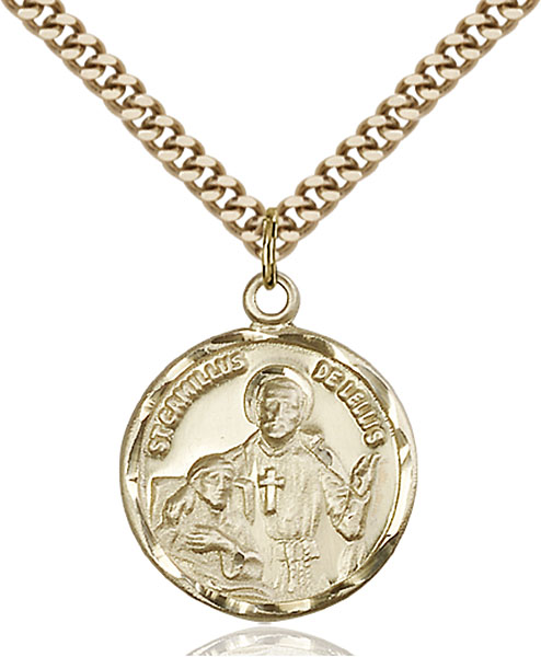 Gold-Filled St. Camillus of Lellis Pendant
