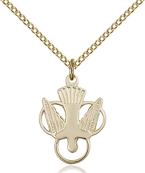 Gold-Filled Holy Spirit Pendant