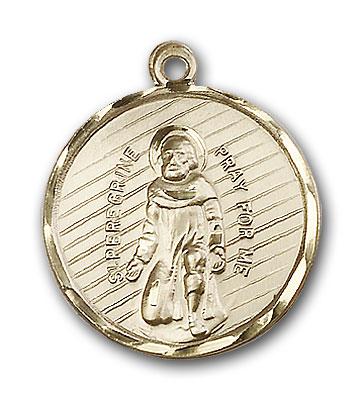 14K Gold St. Peregrine Pendant - Engravable