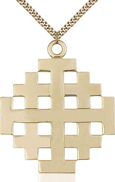 Gold-Filled Jerusalem Cross Pendant