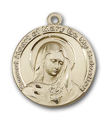 Gold-Filled Mary Pendant