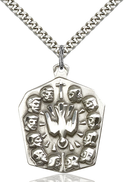 Sterling Silver Apostles Pendant