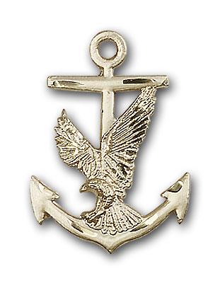 14K Gold Anchor / Eagle Pendant
