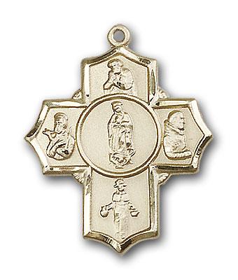 14K Gold Guadalupe/Dieg/Pio/Xav/Nino Pendant