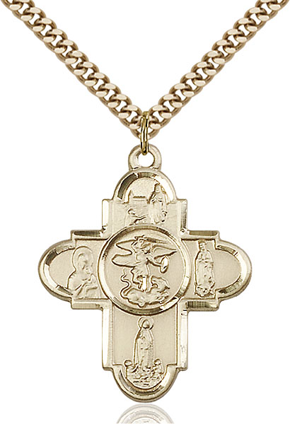 Gold-Filled Our Lady 5-Way Pendant