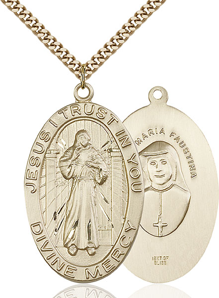 Gold-Filled Divine Mercy Pendant