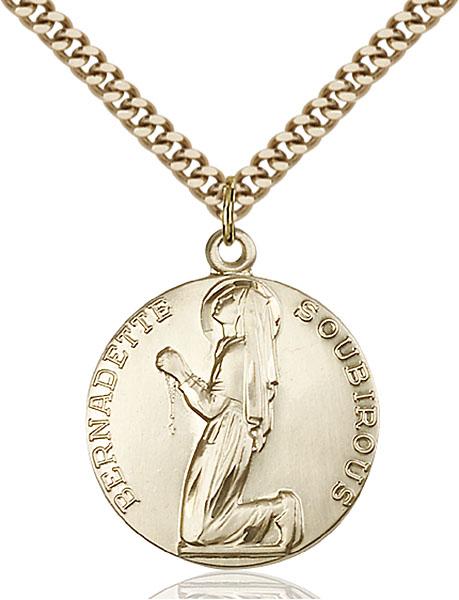 Gold-Filled St. Bernadette Pendant