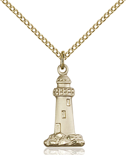 Gold-Filled Lighthouse Pendant