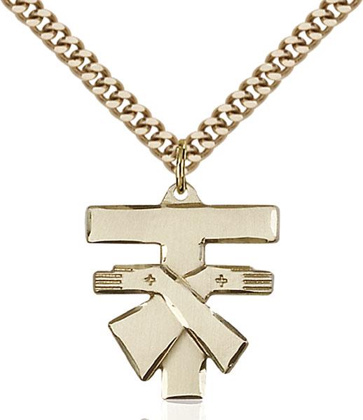 Gold-Filled Franciscan Cross Pendant
