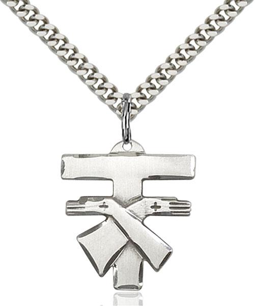 Sterling Silver Franciscan Cross Pendant