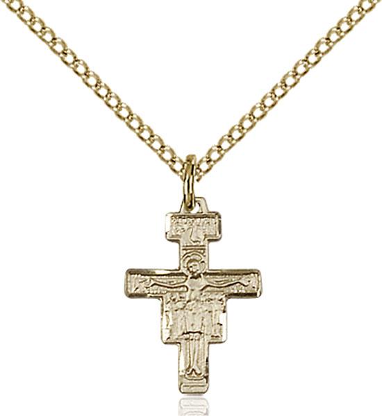 Gold-Filled San Damiano Crucifix Pendant