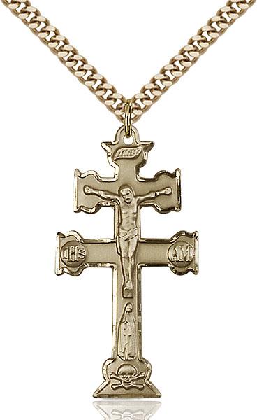 Gold-Filled Caravaca Crucifix Pendant