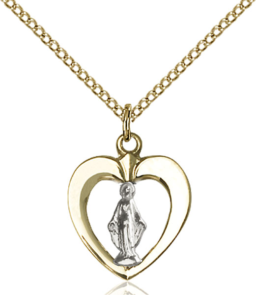 Two-Tone Sterling Silver and Gold-Filled Miraculous Medal