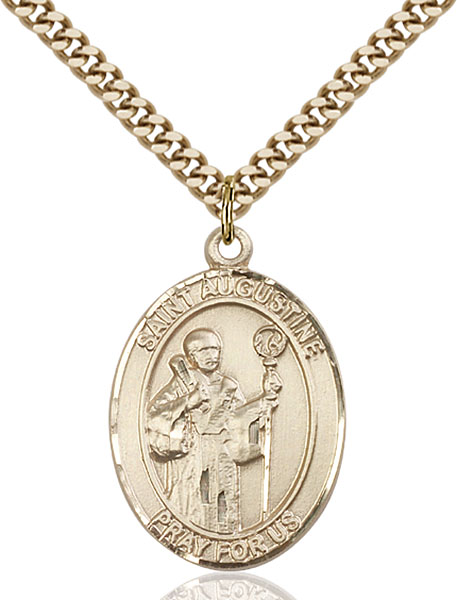 Gold-Filled St. Augustine Pendant