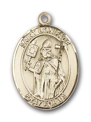 14K Gold St. Boniface Pendant