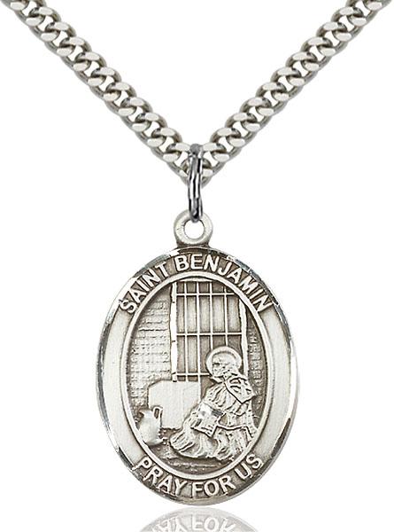 Sterling Silver St. Benjamin Pendant