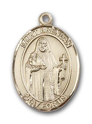 14K Gold St. Brendan the Navigator Pendant