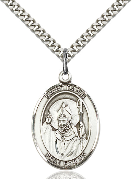 Sterling Silver St. David of Wales Pendant