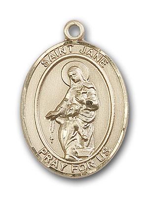 14K Gold St. Jane of Valois Pendant