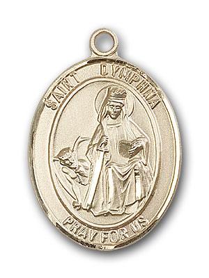 14K Gold St. Dymphna Pendant