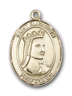 14K Gold St. Elizabeth of Hungary Pendant