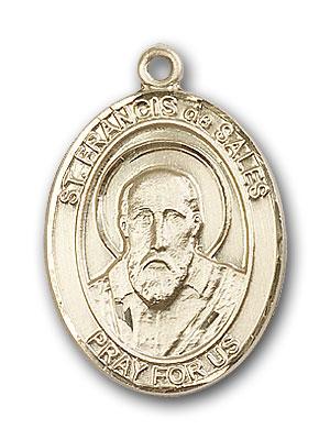 14K Gold St. Francis de Sales Pendant