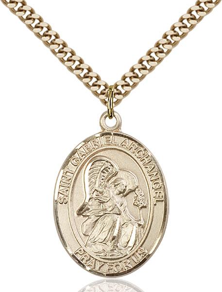 Gold-Filled St. Gabriel the Archangel Pendant