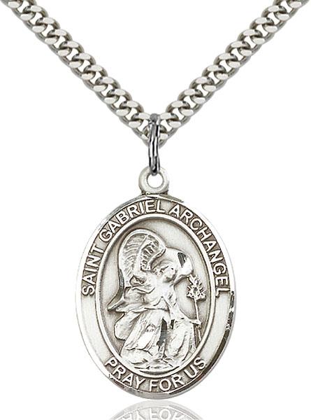 Sterling Silver St. Gabriel the Archangel Pendant