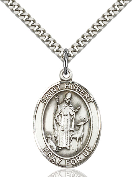 Sterling Silver St. Hubert of Liege Pendant
