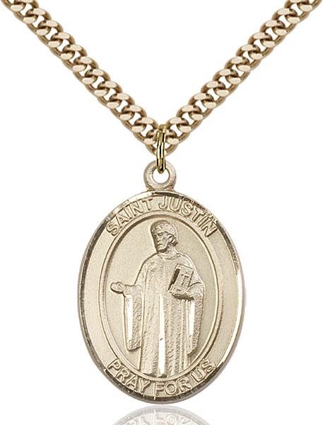 Gold-Filled St. Justin Pendant