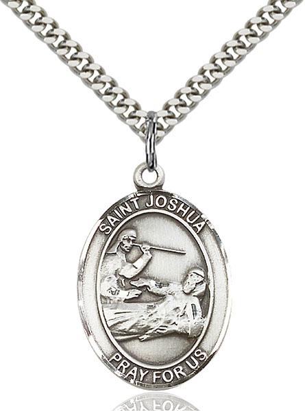 Sterling Silver St. Joshua Pendant