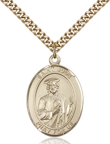 Gold-Filled St. Jude Thaddeus Pendant