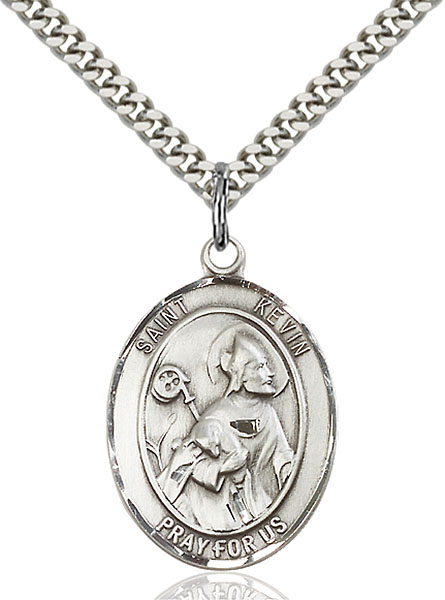 Sterling Silver St. Kevin Pendant