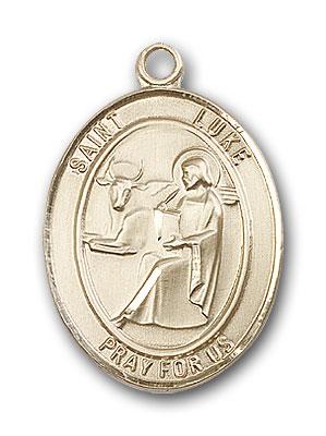 14K Gold St. Luke the Apostle Pendant