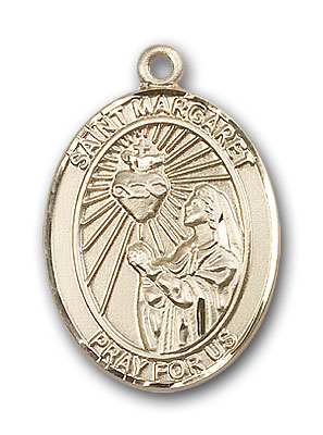 14K Gold St. Margaret Mary Alacoque Pendant