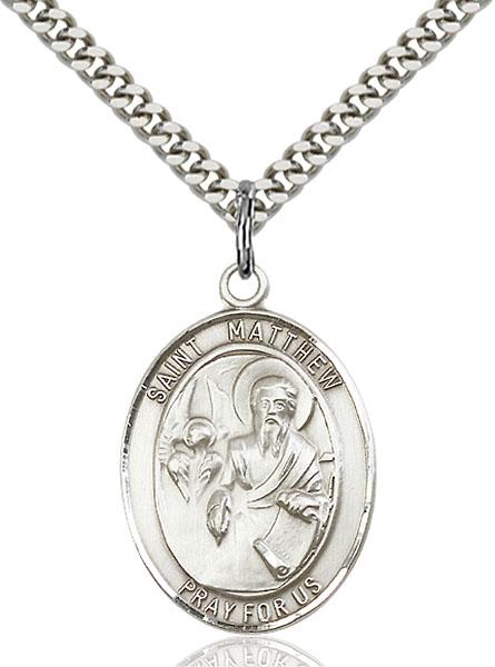 Sterling Silver St. Matthew the Apostle Pendant