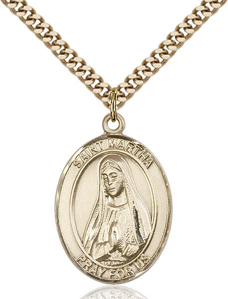 Gold-Filled St. Martha Pendant