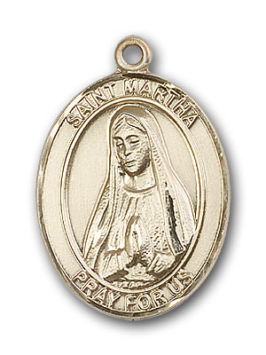 14K Gold St. Martha Pendant