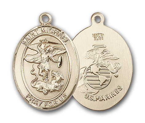 14K Gold St. Michael the Archangel Pendant